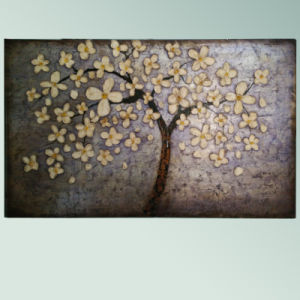 White Flowers Tree Painting (LH-258000) pictures & photos