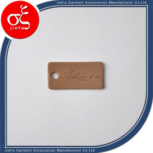 Factory Price Brand Logo Brown Leather Tag/PU Leather Tag/Label pictures & photos