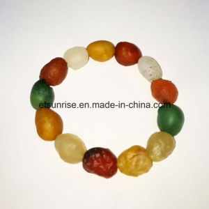 Semi Precious Stone Rough Agate Egg Shape Crystal Beaded Bracelet pictures & photos