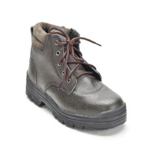 Safety Shoes with Steel Toe and Steel Plate Rubber Outsole Miner Worker Shoes