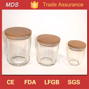 Clear Vintage Empty Glass Candle Jars Wholesale with Lids pictures & photos