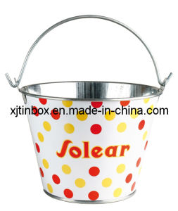 Tin Bucket for Promation, Gift Tin Bucket, Tin Bucket with Handle (XJ002E)