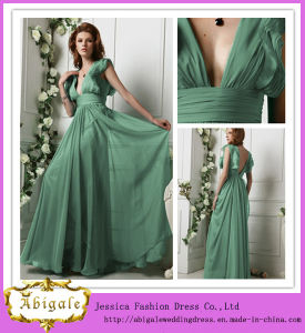 2013 Elegant Custom Made Chiffon Empire V-Neck Prom Dress Pregnant Women Dresses (SR45)