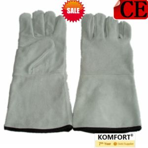 High Quality Full Cow Leather Work Welding Glove with CE (JMC-409T) pictures & photos
