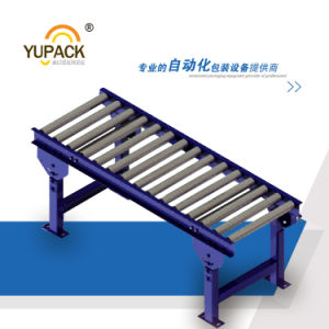 High-Performance Roller Conveyor with Back Fence for Saw Cutting pictures & photos