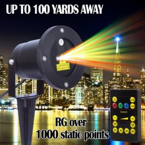 Aluminum Alloy Outdoor Laser Christmas Light Projector with IR Wireless Remote, Red and Green Star Laser Show pictures & photos