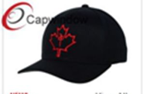Red Maple Leaf Embroidery Cotton Leisure Sport Baseball Cap pictures & photos