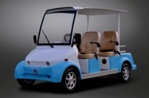 Dongfeng Electric 4 Seater Sightseeing Car for Sale pictures & photos