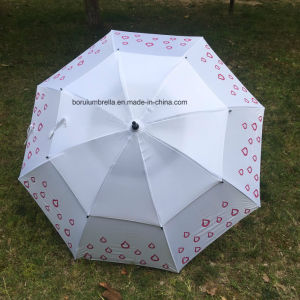 Double Canopy Golf Umbrella pictures & photos