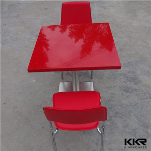 Kkr Popular Restaurant Furniture Food Court Dining Table Set pictures & photos
