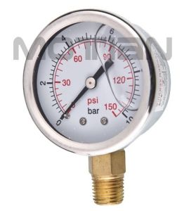 2 Inch Glycerin Silicon Liquid Oil Filled Pressure Gauge