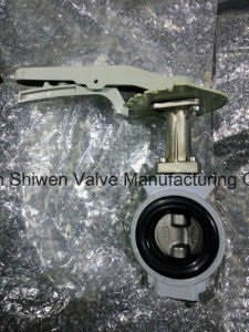 JIS 10k Aluminum Wafer Butterfly Valve with Hand Lever pictures & photos