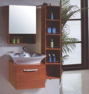 Solide Wood Floor Bathroom Cabinet (B-337) pictures & photos
