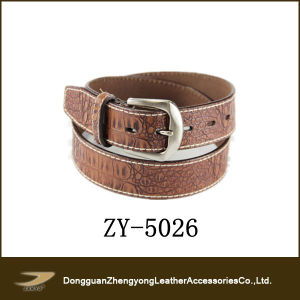 2013 Fashion Crocodile Leather Belt Men Janyo (ZY-5026)