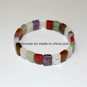 Semi Precious Stone Fashion Natura L Crystal Beaded Bracelet Jewelry pictures & photos