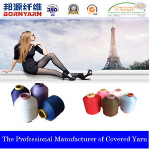 Covered Yarn with Spandex and Polyester Produced by Qingdao Bornyarn pictures & photos