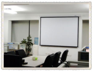 Projector Screen 16: 9 Motorized Electric Screen for Video Projector pictures & photos