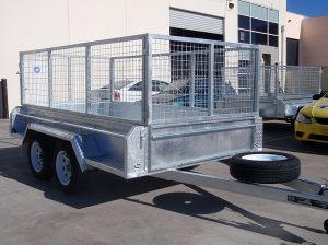 10X6 Tandem Trailer Galvanised Heavy Duty with 600mm Mesh Cage