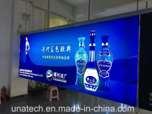 Indoor Advertising Media Frameless Condominium Halls LED Backlit Banner Tension Flex Light Box pictures & photos