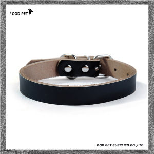 Cow Leather Personalized Dog Collars Spc7018-4 pictures & photos
