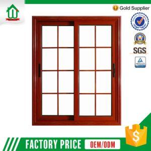 Wooden Color Aluminum Sliding Window (WJ-Alu-W08) pictures & photos