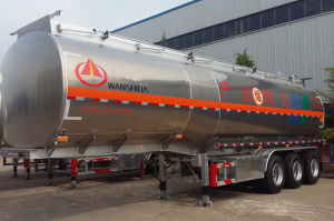 42-50 Cubic Lightweight Aluminum Alloy Hazardous Chemical Tank Semi Trailer