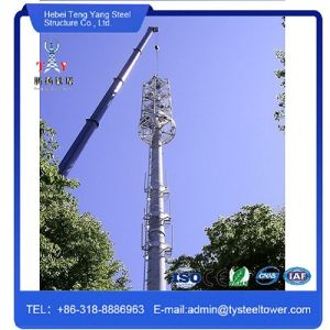 Single Pipe Pole Galvanized Radio Communication Steel Monopole Tower pictures & photos