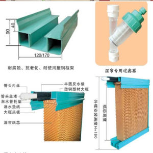 Ventilation System in Workshop, Evaporative Cooling Pad pictures & photos