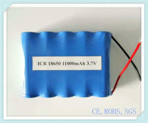 Lithium Battery Pack 18650-11000mAh 3.7V for Electric Power, Toys, Lithium Battery Pack, Li-ion Battery