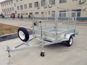 8X5 Hot DIP Galvanized Tandem Box Trailers with Cages (BT-85II) pictures & photos