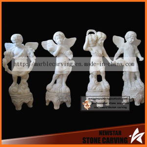 Garden Stone Sculptures of Lovely Children Angels Nss025 pictures & photos