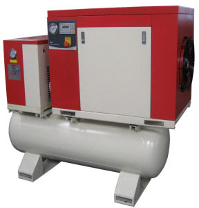 7.5kw, 10HP Screw Compressor with Dryer and Tank pictures & photos
