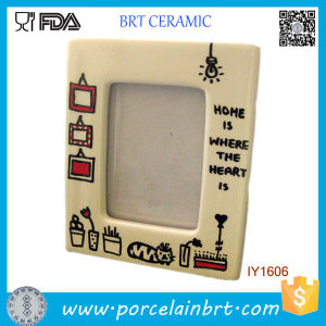 Wholesale Square Shape Ceramic Table Photo Frame pictures & photos