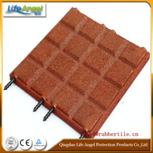 En1177 Certificated Safety Rubber Floor Tiles/Roof Deck Choise Rubber Floor pictures & photos