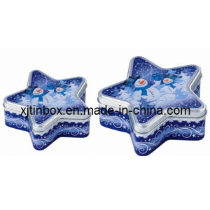 Wonderful Quality Star Shaped Tin Box, Star Tin Box for Promotion, Star Tin Box (XJ-020E)