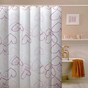 100% Polyester Bathroom Fabric Shower Curtain pictures & photos