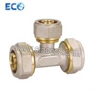 Brass Compression Male Tee Bite Pipe Fitting pictures & photos