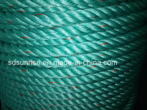 High Strength Polypropylene Rope Green with Red pictures & photos