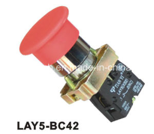 Lay5-Bc42 Mushroom Head Spring Return Push Button Switch pictures & photos