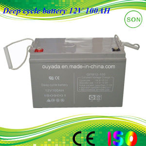 12V Deep Cycle AGM Solar Rechargeable Power Battery pictures & photos