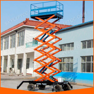 20FT Electric Portable Scissor Lift for Indoor and Outdoor Use pictures & photos