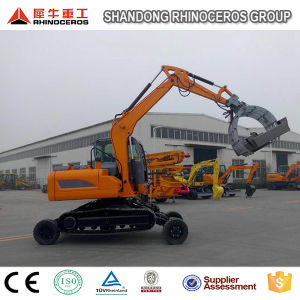 8t Wheel Excavator Crawler Excavator with Grabber/Hammer/Quick Hitch pictures & photos