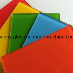 4mm Blue Painted Decorate Glass for Decorate pictures & photos