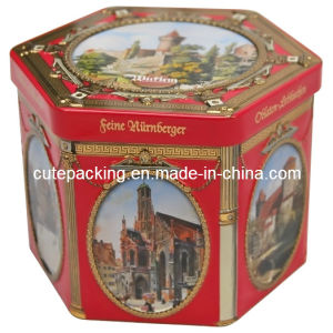FDA Approved Octagonal Candy Tin Box (CT17)