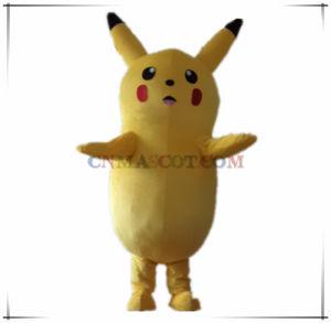 High Realistic Face Big Body Pikachu Cartoon Character Carnival Costume