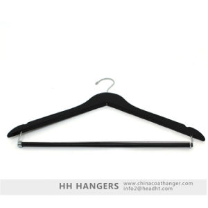 Wholesale Locked Trousers Bar Wooden Clothes Hanger Hangers for Jeans pictures & photos