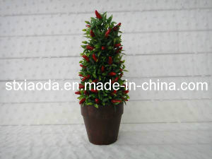 Artificial Plasitc Chilli Tree Bonsai (XD13-220)