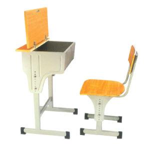 Top-Open Structure Wooden Single School Furniture