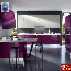 High Quality Home Furniture MDF Lacquer Bake Kitchen Cabinet pictures & photos