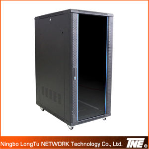 Server Rack with Temper Glass Door Front with Arc Mesh Frame pictures & photos